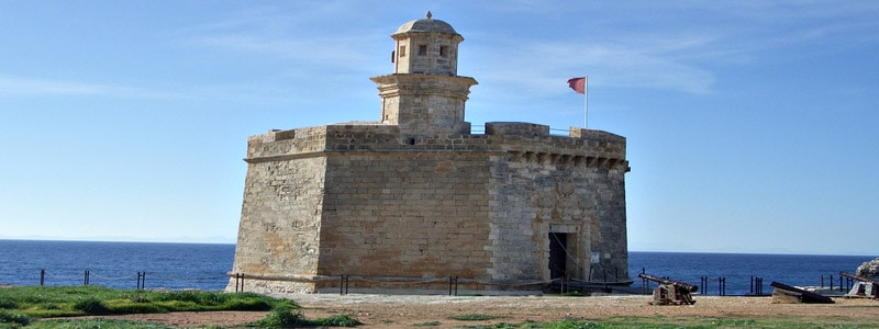 Castillo de San Nicolás de Ciudadela de Menorca superior
