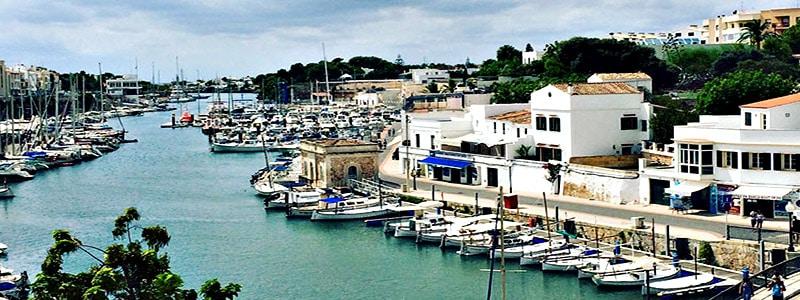 Puerto de Ciudadela de Menorca superior