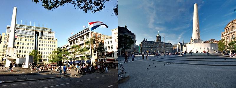 Plaza Dam Cabecera de Ámsterdam