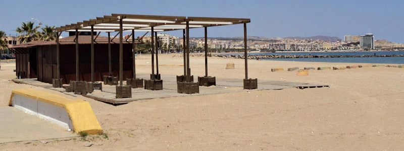Playa del Hipodromo de Melilla