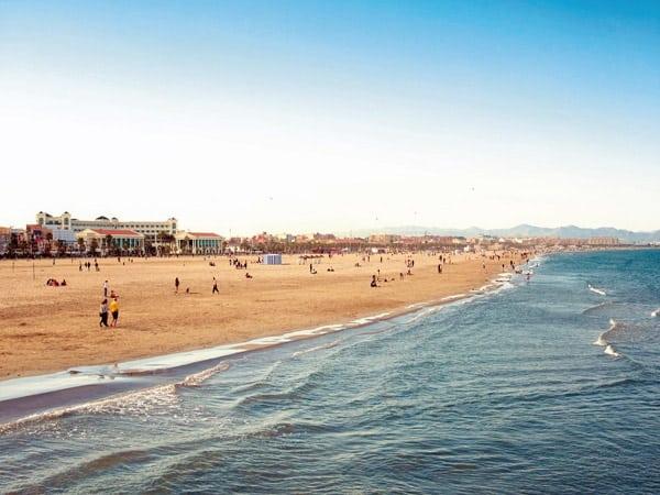 Playa de La Malvarrosa de Valencia - Playas bonitas de Valencia capital - Ilutravel.com