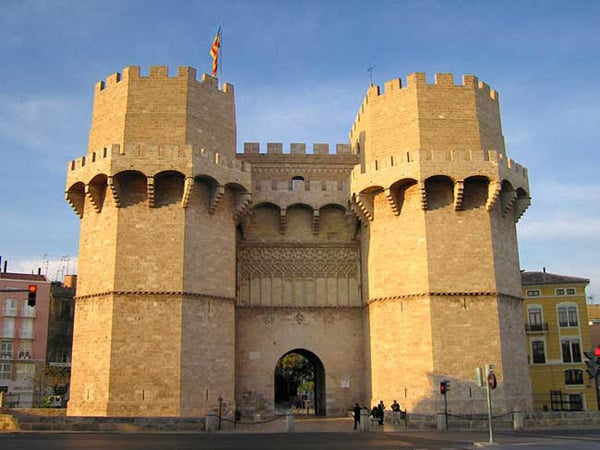 Torres de Serranos de Valencia - Visitar Valencia de turismo en 3 días - Ilutravel.com