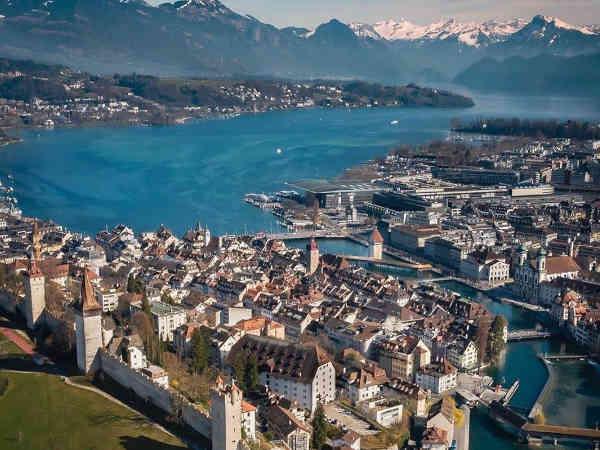 Foto aérea de Lucerna,