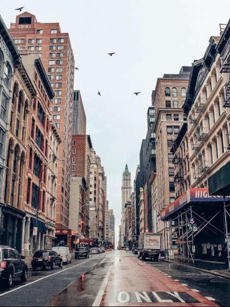 Vista de las Calles del barrio de Soho Nueva York