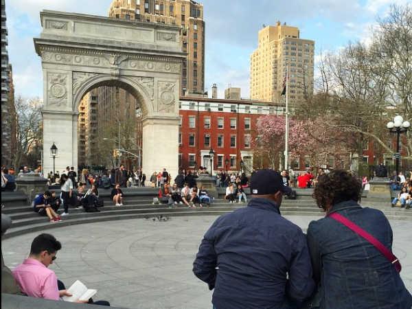 Vista del Arco de Washginton Square de Nueva York