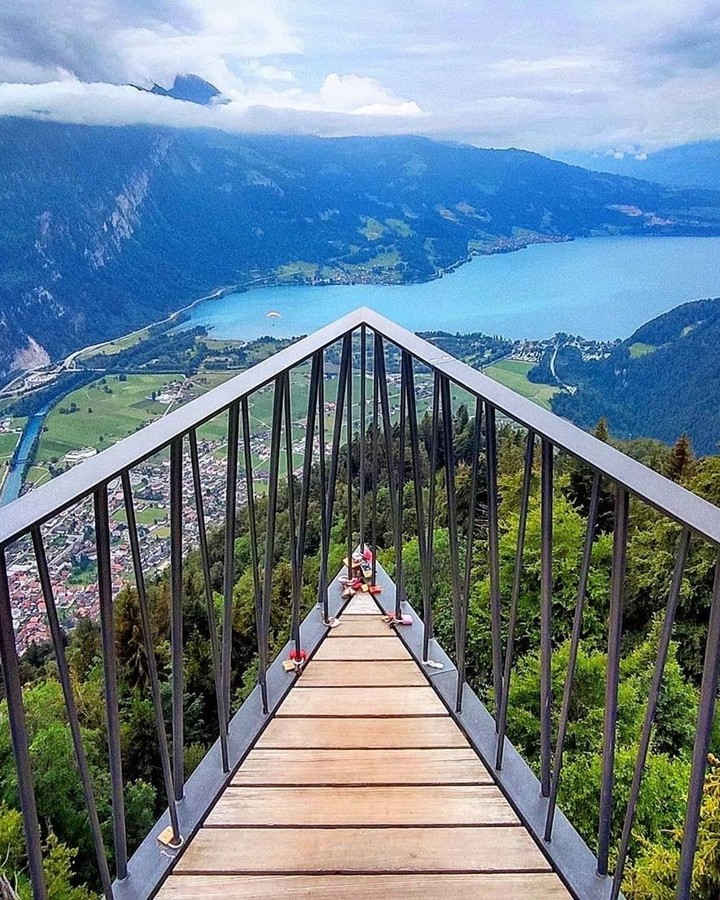 Harder Kulm de Interlaken, vista desde arriba