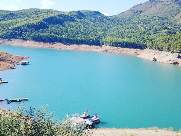 Pantano del Tranco, lugar donde hacer piragüismo en Cazorla