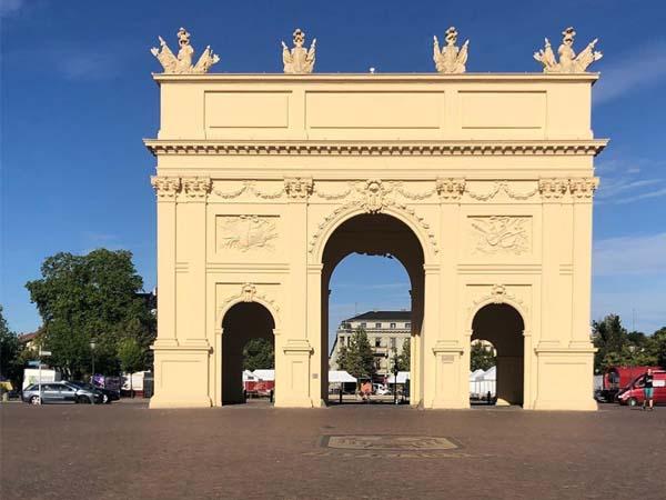 Vista desde Strabbe Brandenburg de Tor Brandenburg