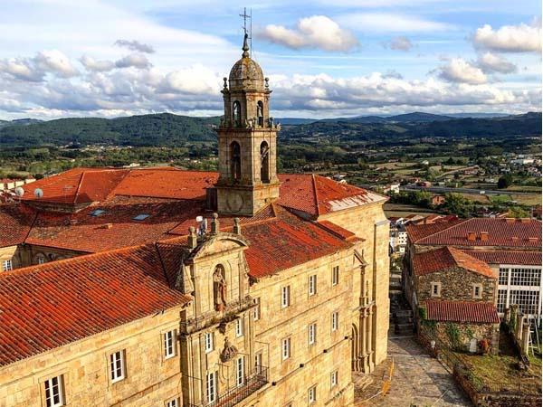 Vista del Monasterio San Vicente del Pino desde Torre del Homenaje