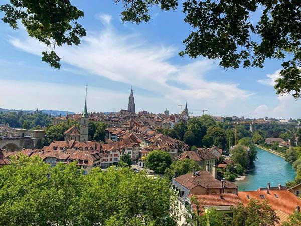 Foto panorámica de Berna en Suiza