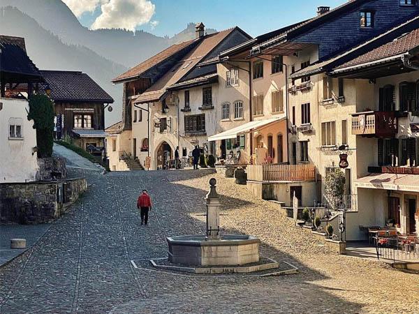 Foto de una de las Calles principales de Gruyéres