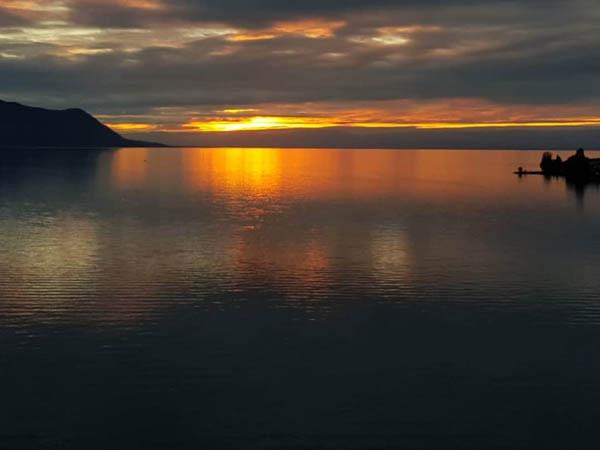 Vista desde Montreaux del Lago Leman
