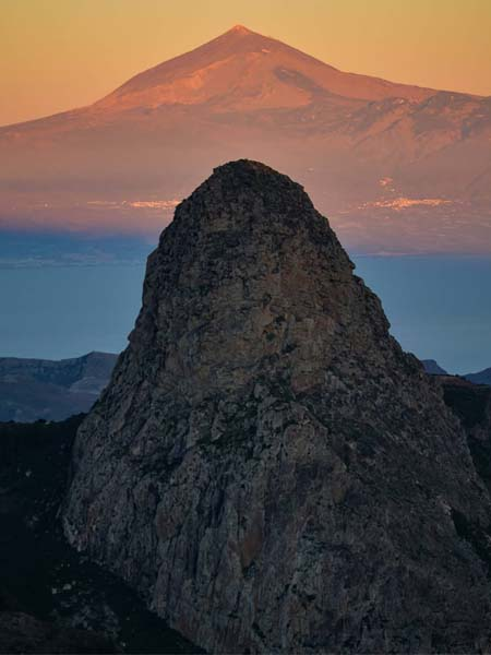 Vistas del Roque de Agando, lugar que ver en La Gomera