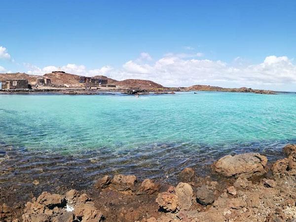 Vista de Isla de Lobos en Fuerteventura
