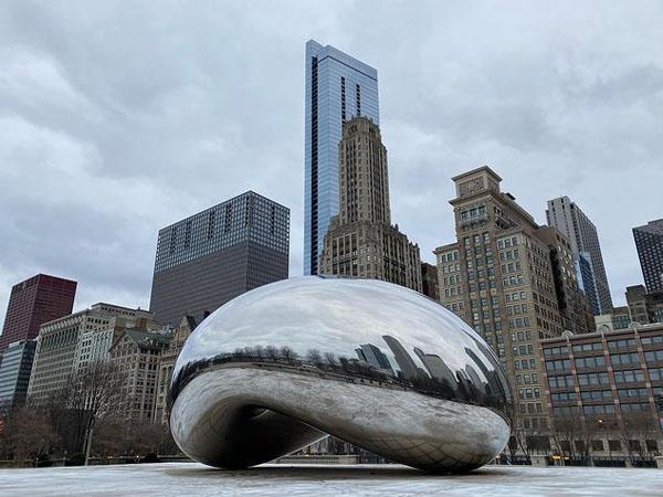 Cloud Gate de Chicago en Millenium Park