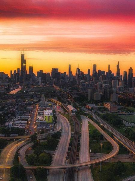 Foto de Chicago en la lejanía