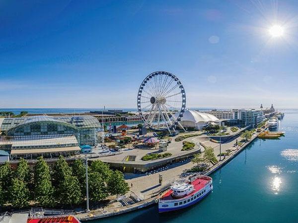Foto aérea de Navy Pier de Chicago