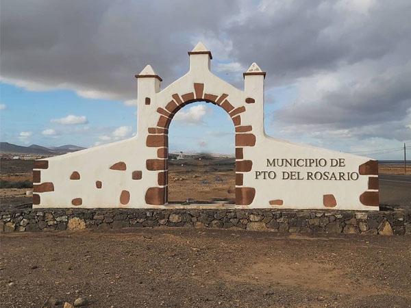 Pórtico de visitantes Puerto del Rosario Fuerteventura