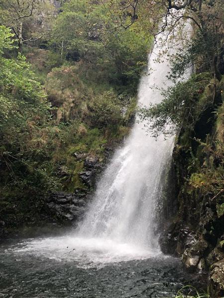 Cascada de Cioyo en concejo de Castropol