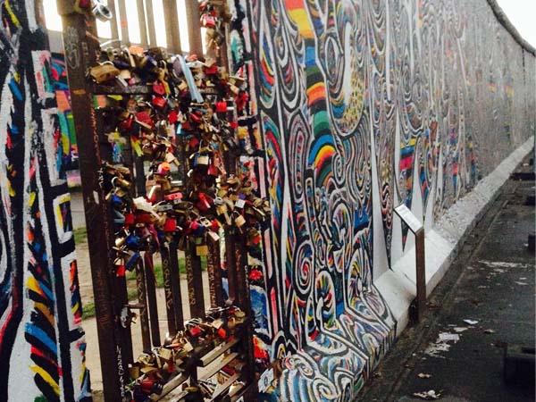 Foto de una parte del Muro de Berlín