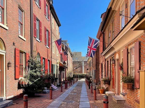 Elfreth's Alley Calle más antigua de Filadelfia