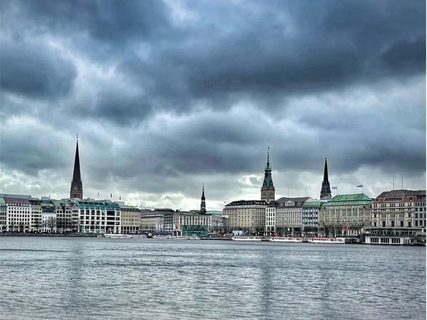 Foto de Hamburgo desde la distancia