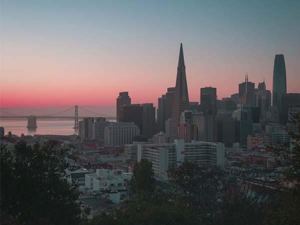 Foto lejana de San Francisco