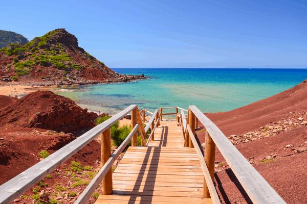Cala del Pilar de Menorca para ver la Isla en siete días - Ilutravel.com