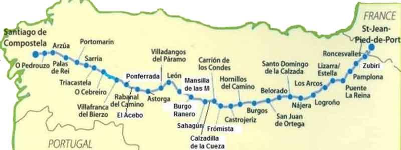 Mapa Camino Frances - Ilutravel.com