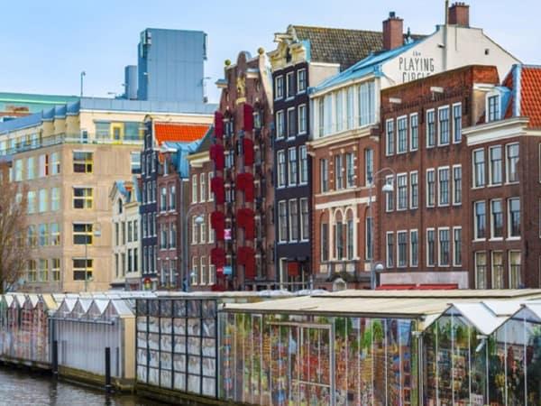 Mercado Flores Amsterdam sitios que visitar en la Capital de los Paises Bajos - Ilutravel.com